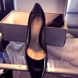 CALVIN KLEIN BLACK PATENT SHOES